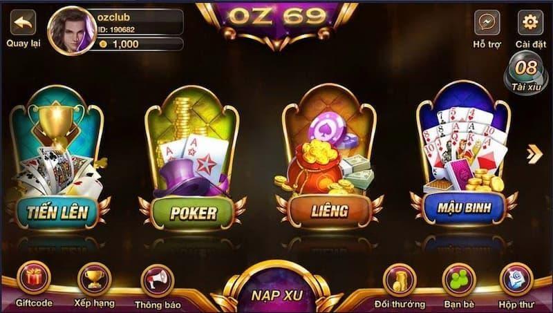 Review tất tần tật về cổng game bài trực tuyến Oz69 – Kiemtinh